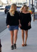Margot Robbie runs errands with a friend after visiting a doctor's office in Los Angeles
