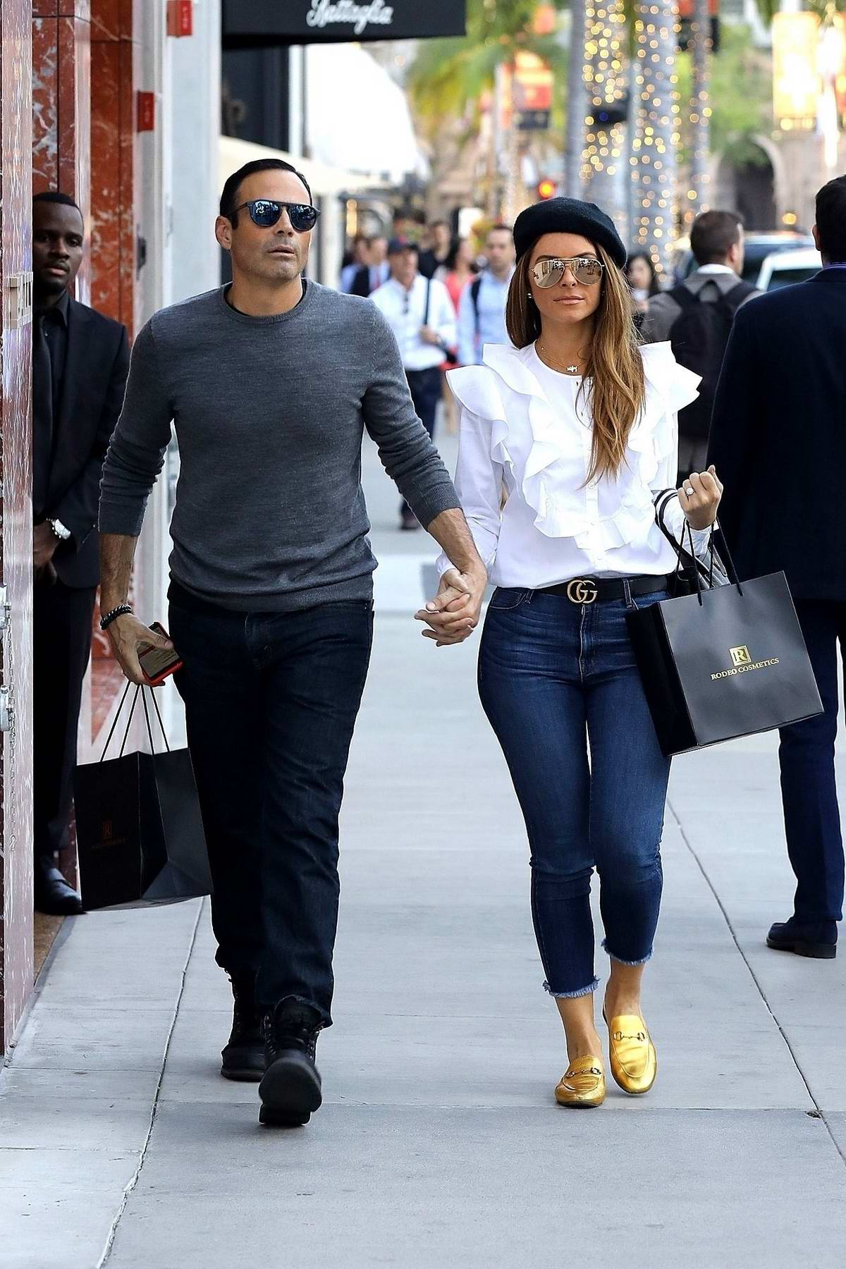 Maria Menounos rocks a pair of golden loafers while out ...