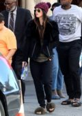 Megan Fox keeps it casual in a sweatshirt and beanie as she attends Sunday Mass at her Church in Los Angeles