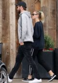 Miley Cyrus and Liam Hemsworth spotted at Vintage Grocers while shopping groceries in Malibu, California
