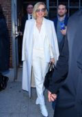 Naomi Watts in an all white ensemble attends the Zadig & Voltaire Show during New York Fashion Week in New York City