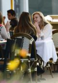Natalie Dormer enjoys a late lunch with her friends in Los Angeles