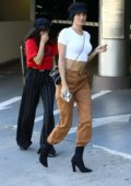 Nicole Williams and Shanina Shaik arrive for lunch at the Soho House in Los Angeles
