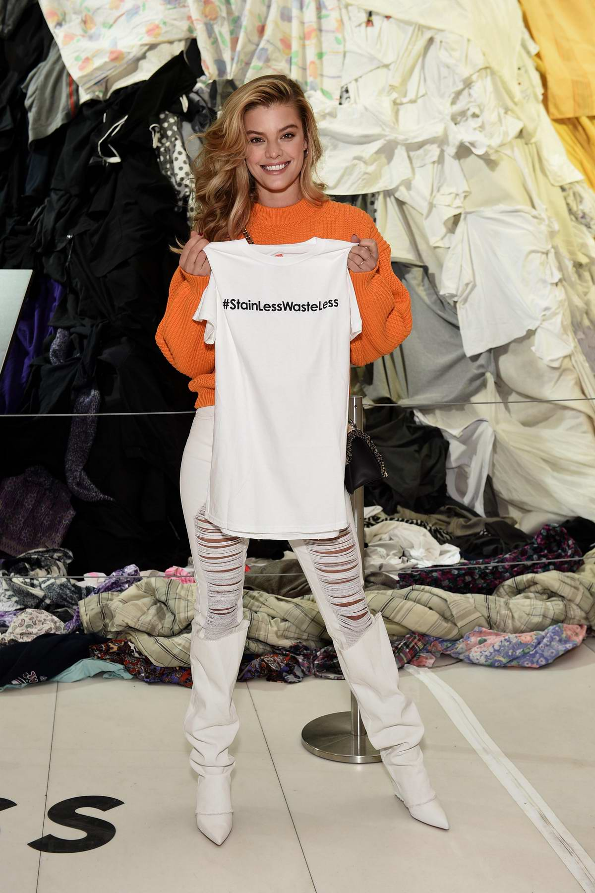 Nina Agdal partners with Unilever to protect her favorite clothes with degree anti-marks deodorant in New York