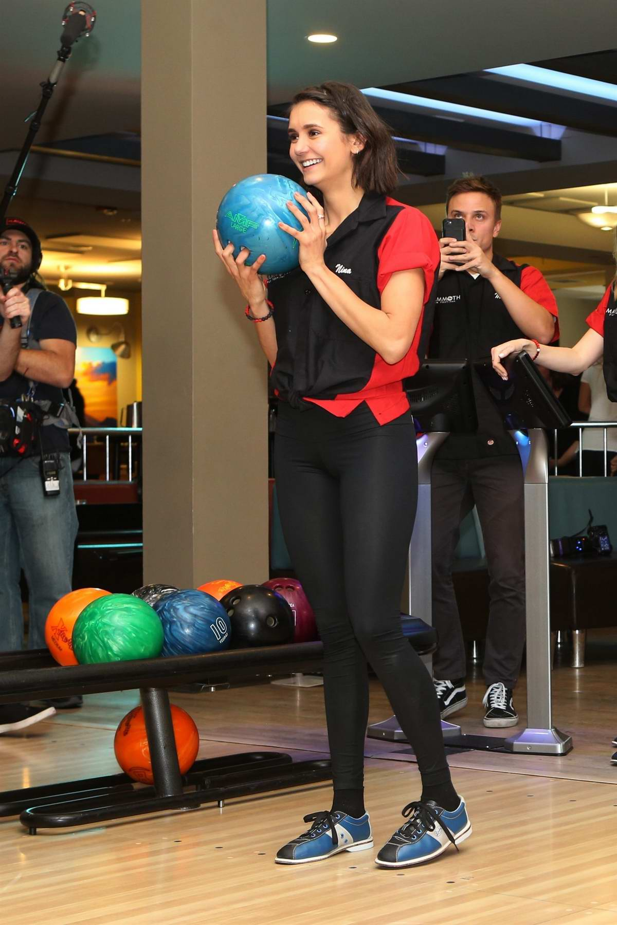 Nina Dobrev at First Annual Mammoth Film Festival Bowling Tournament in Mammoth Lakes, California