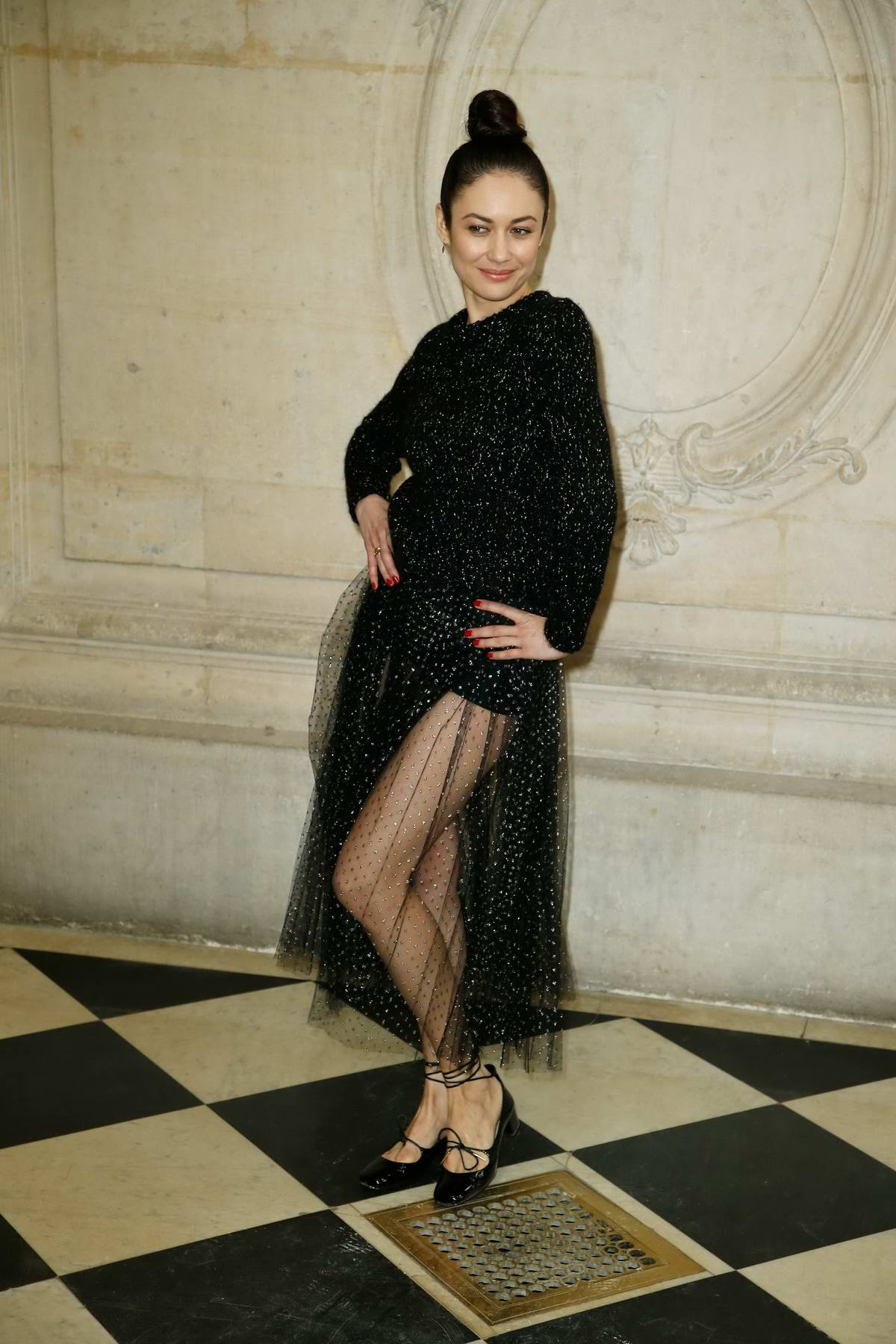 Olga Kurylenko attends Christian Dior Show, fall winter 2018-2019 during Paris Fashion Week, France