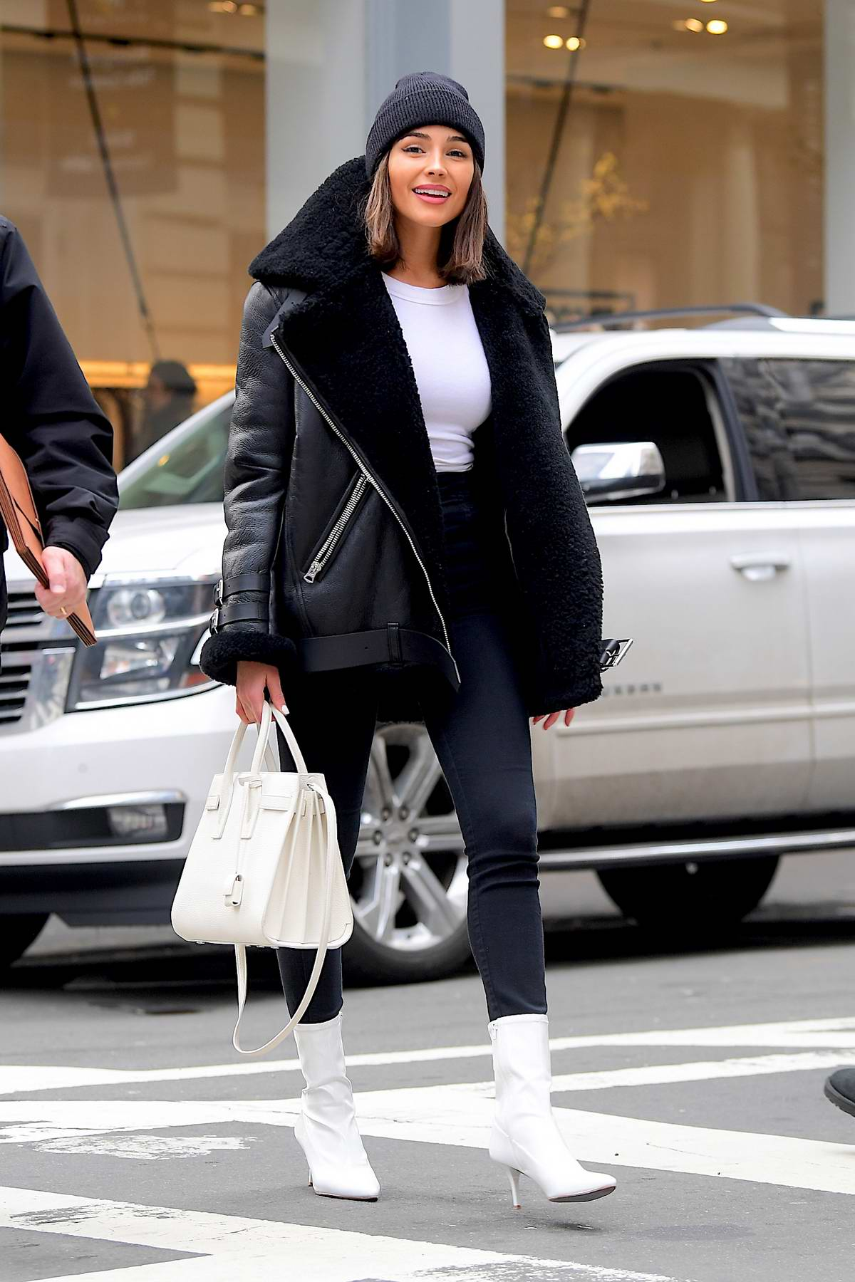Olivia Culpo spotted out with a friend shopping at Alexander Wang in Soho, New York City