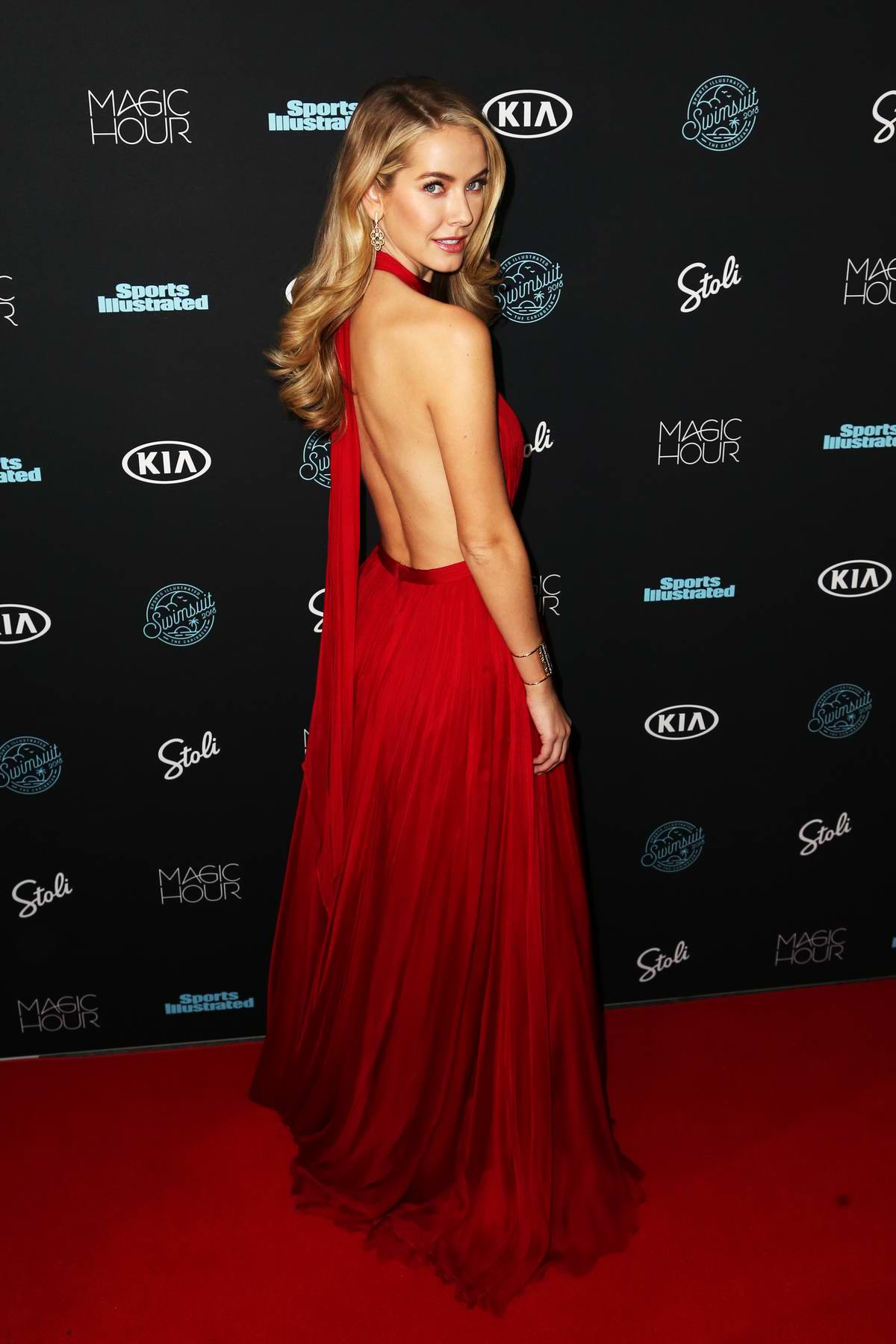 Olivia Jordan attends Sports Illustrated Swimsuit 2018 Launch Event in New York City