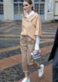 Olivia Palermo spotted out during Milan Fashion Week in Milan, Italy