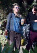 Paris Jackson takes her jeep to grab an iced coffee with a friend in Los Angeles