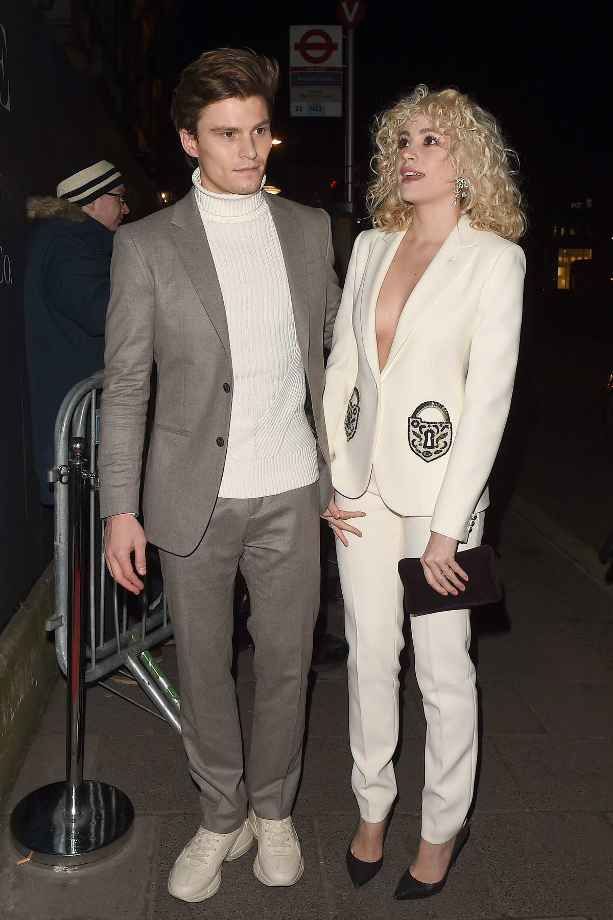 Pixie Lott attend the Vogue x Tiffany & Co BAFTA after-party, held at Annabel's Private Members Club in Mayfair, London
