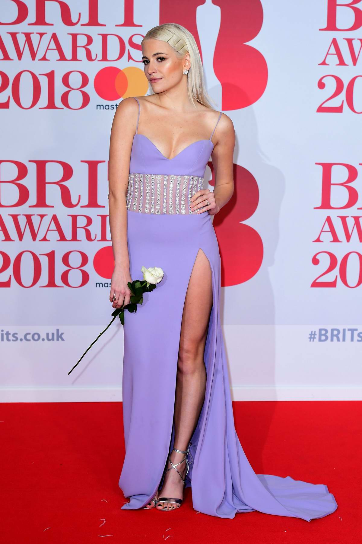 Pixie Lott attends the 38th Brit Awards, held at the O2 Arena in London