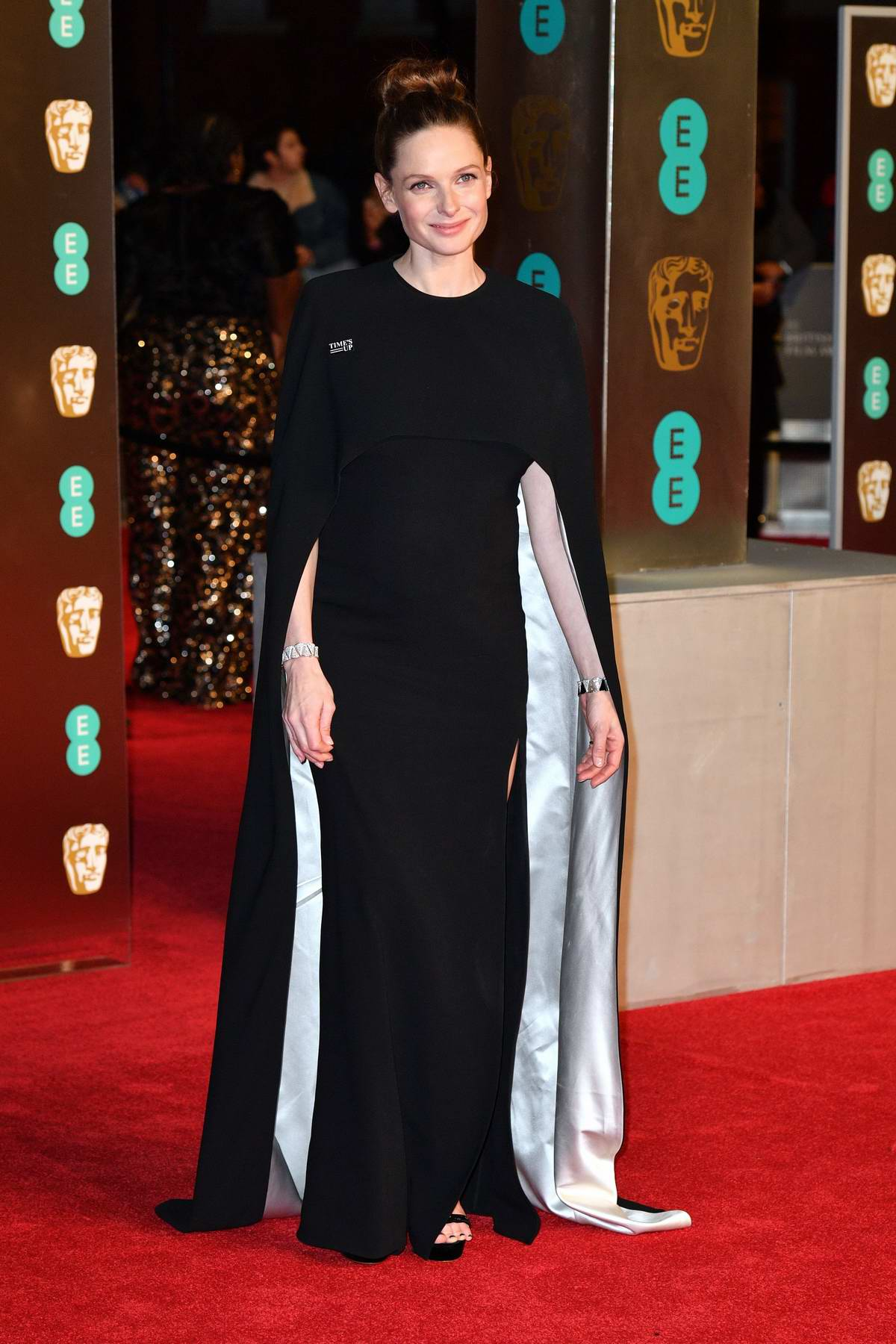 Rebecca Ferguson attends 71st British Academy Film Awards at Royal Albert Hall in London