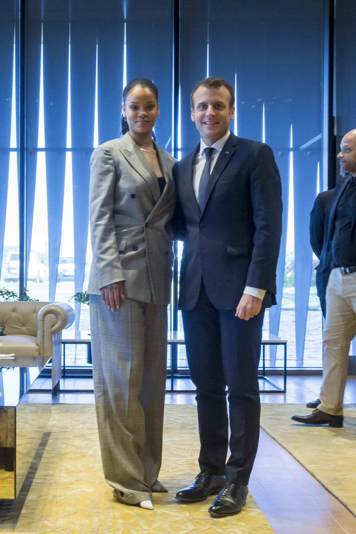 Rihanna attends the GPE Financing Conference in Dakar, Senegal