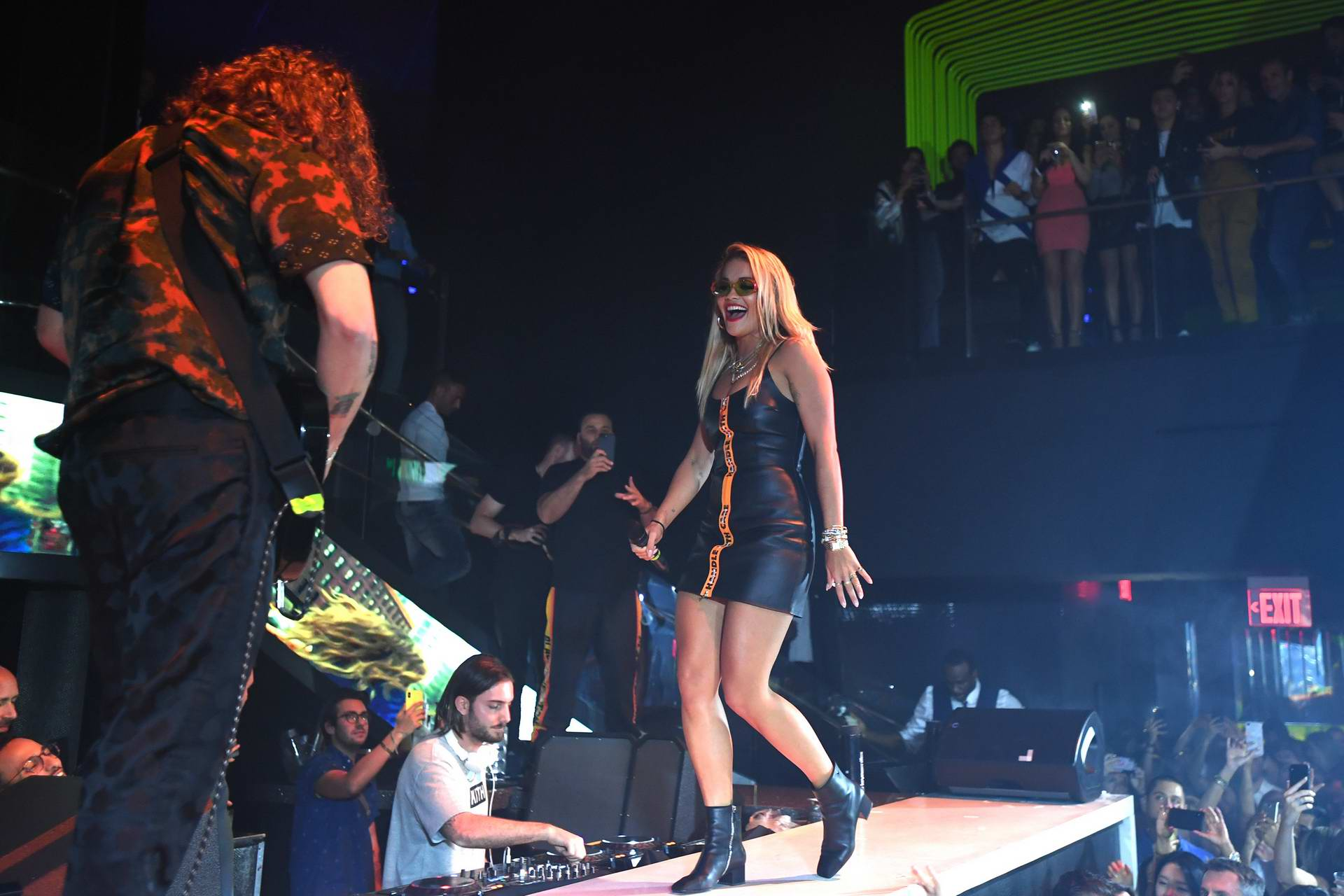 Rita Ora and Andrew Watt performs live at LIV at the Fontainebleau in Miami, Florida