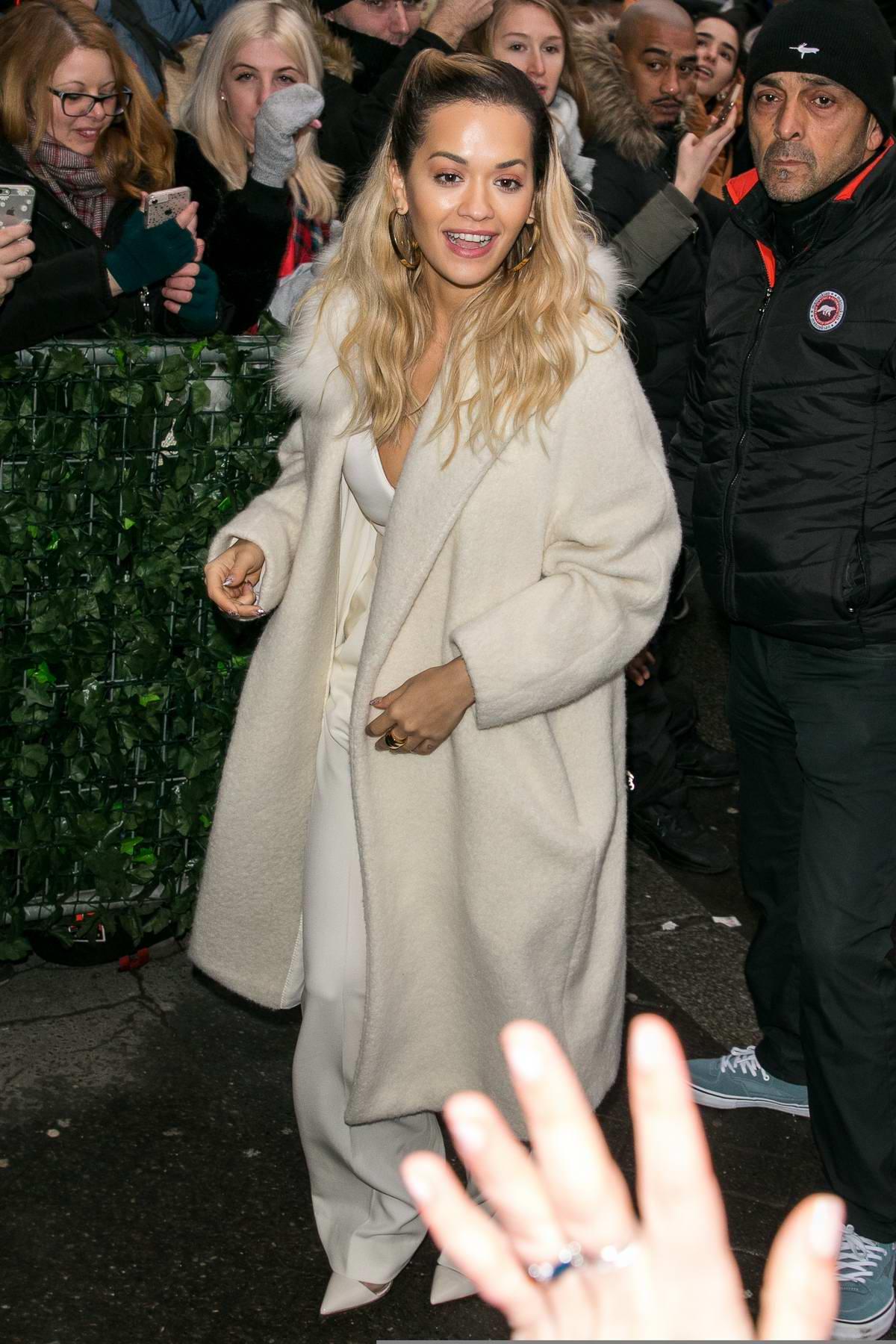 Rita Ora arrives at 'C à vous' TV show in Paris, France