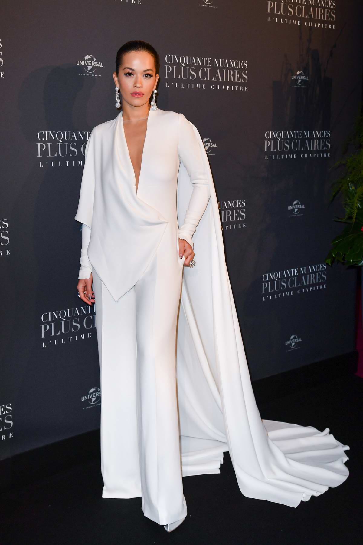 Rita Ora attends 'Fifty Shades Freed' premiere at Salle Pleyel in Paris, France