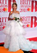 Rita Ora attends the 38th Brit Awards, held at the O2 Arena in London