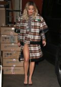 Rita Ora spotted as she leaves Kelly and Ryan Show in New York City