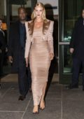 Rosie Huntington-Whiteley arrives at Tom Ford Show during New York Fashion Week, Fall 2018 in New York City