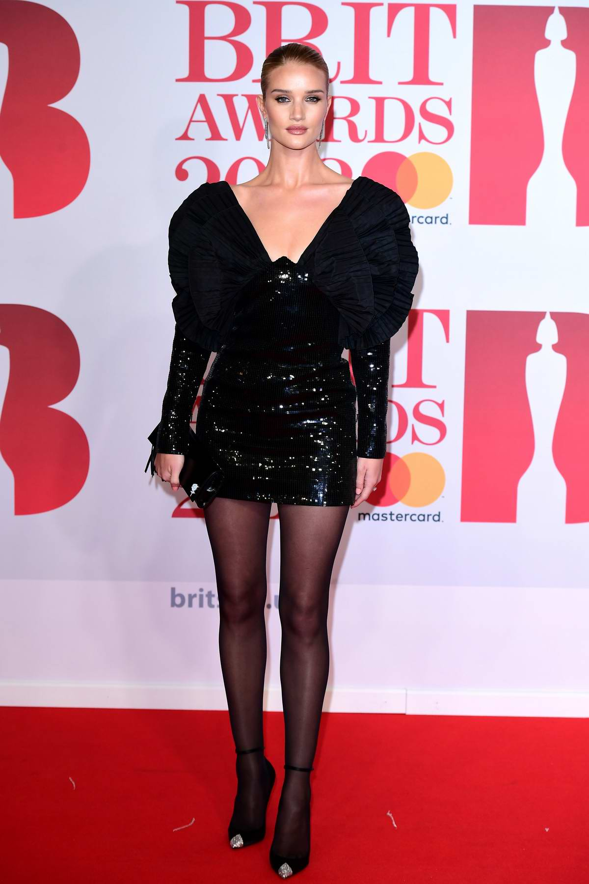 Rosie Huntington-Whiteley attends the 38th Brit Awards, held at the O2 Arena in London