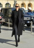 Rosie Huntington-Whiteley looks chic as she arrives at Gare du Nord, having taken the train from London