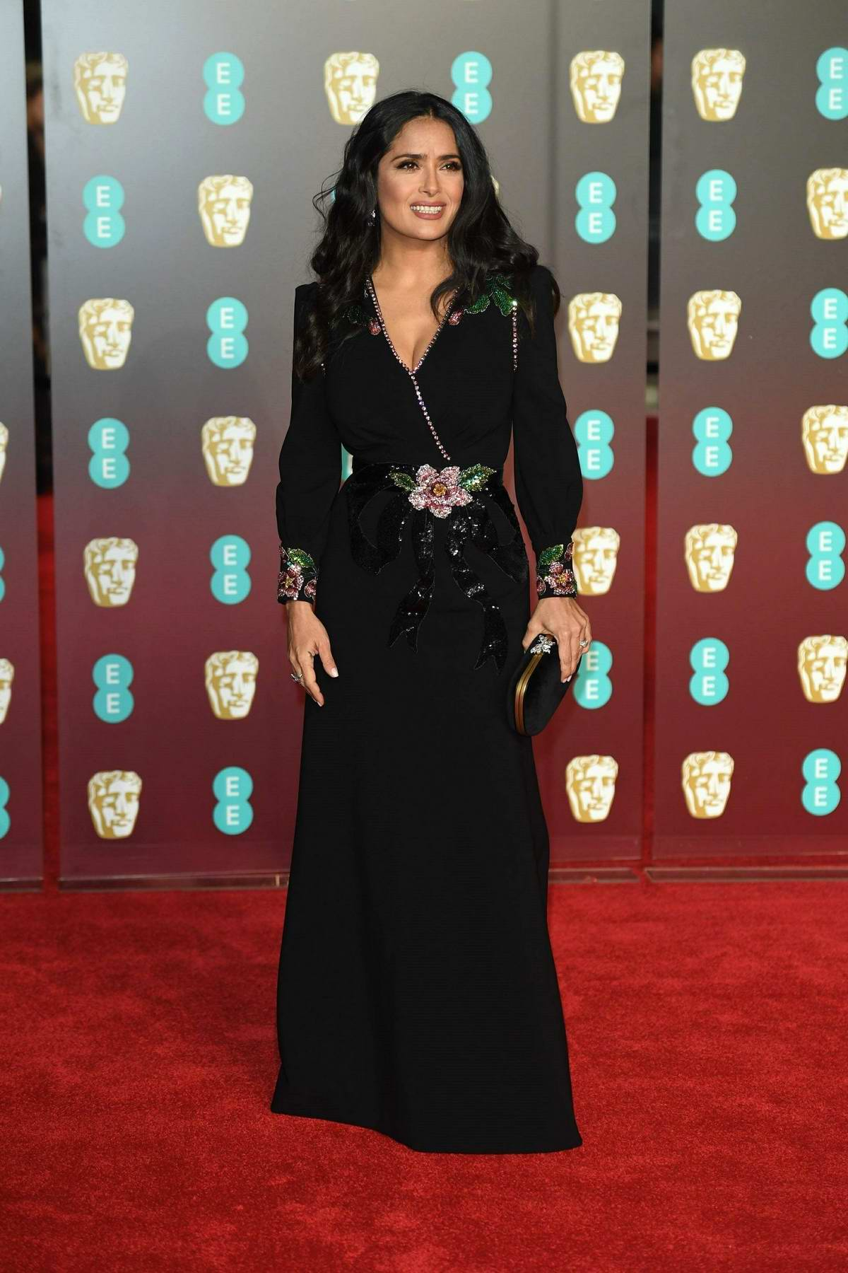 Salma Hayek attends 71st British Academy Film Awards at Royal Albert Hall in London
