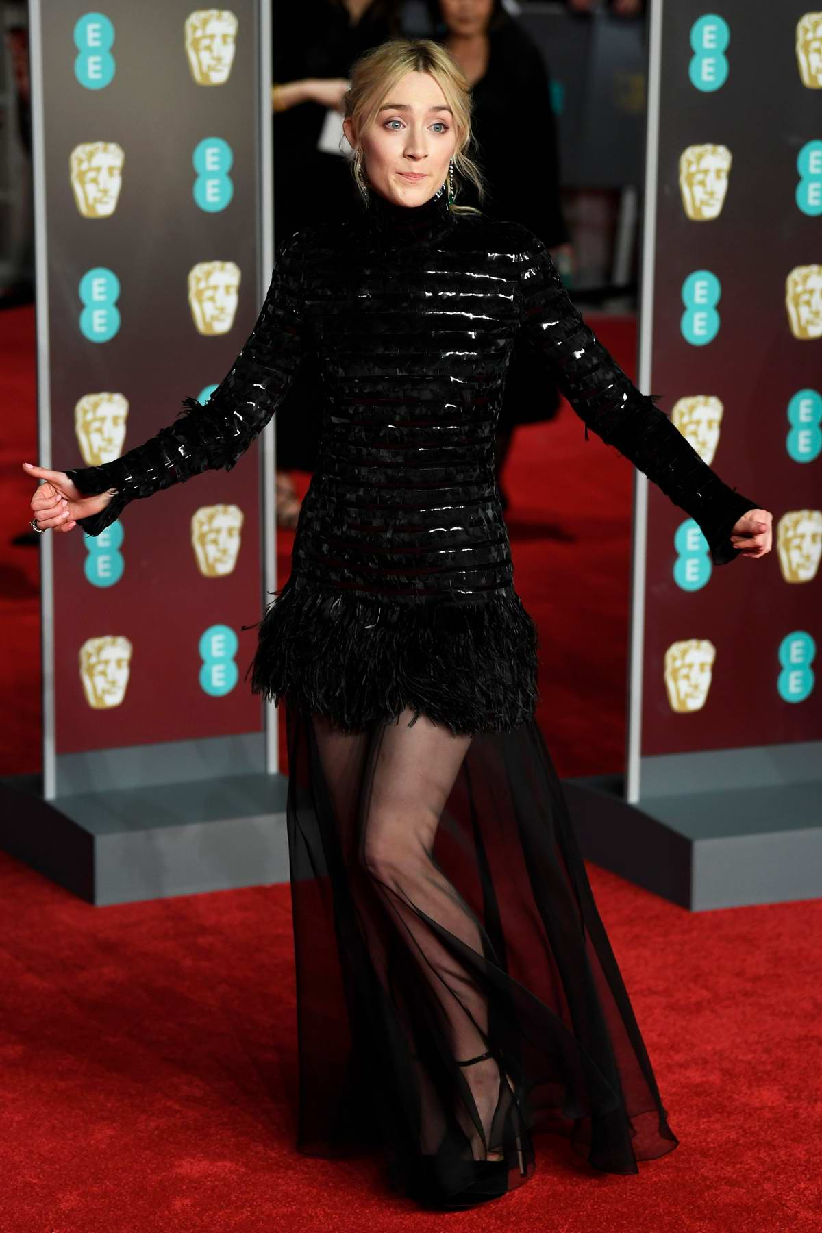Saoirse Ronan attends 71st British Academy Film Awards at Royal Albert Hall in London