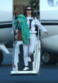 Selena Gomez seen arriving on a private jet in Los Angeles