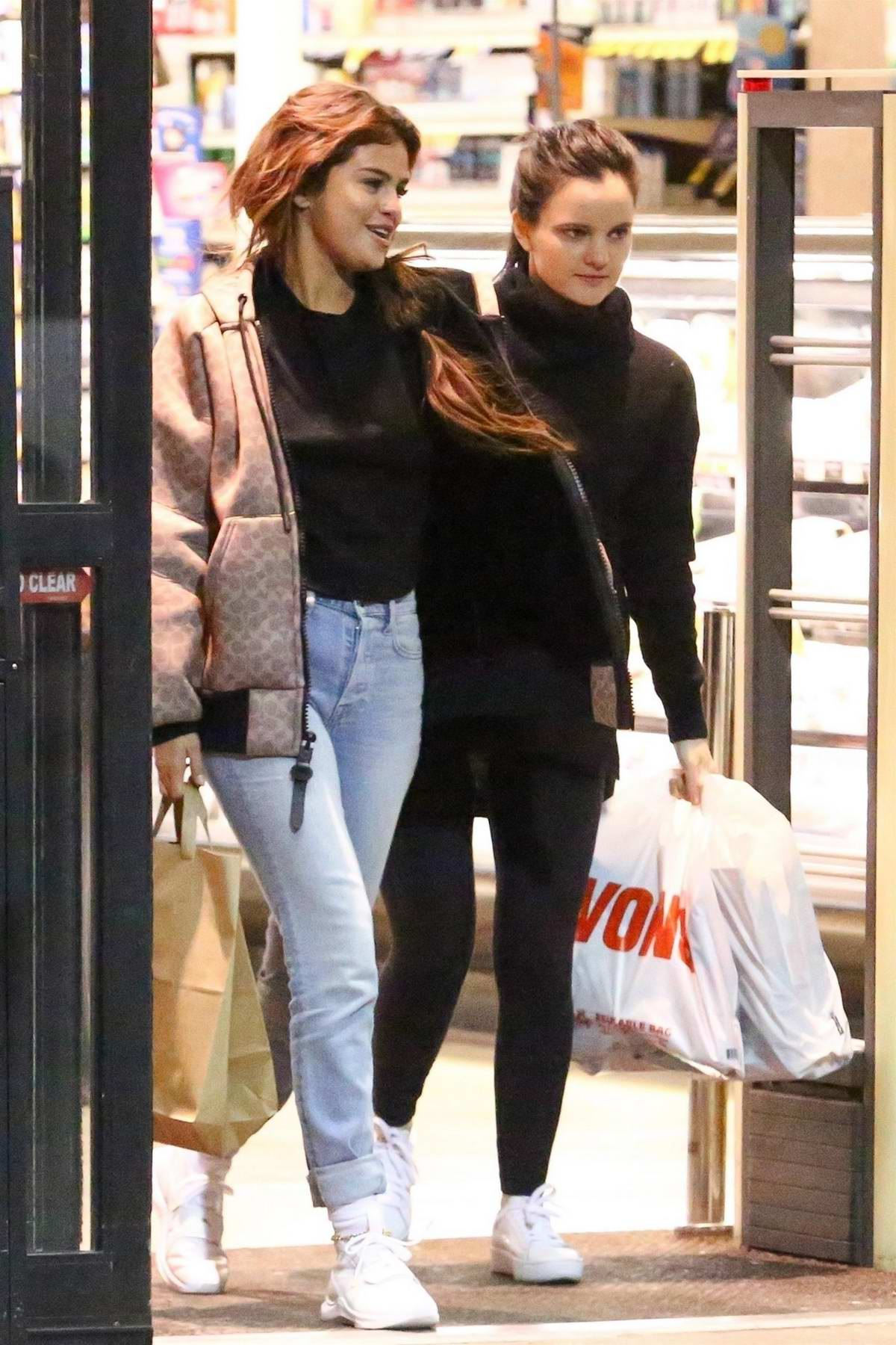 Selena Gomez shops for some groceries at Vons supermarket in Los Angeles
