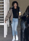 Selena Gomez tries to hide her face as she leaves Church service in Beverly Hills, Los Angeles