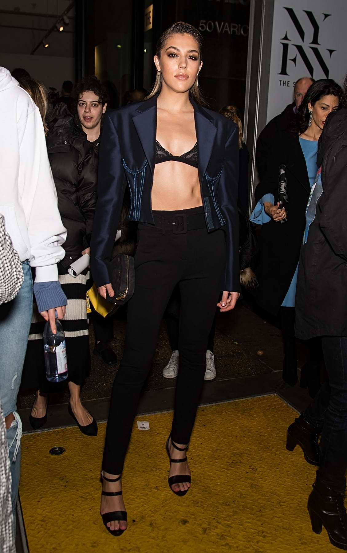 Sistine Stallone leaving Prabal Gurung Show during New York Fashion Week in New York City