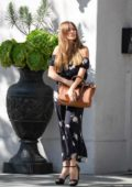 Sofia Vergara waits for her car after enjoying a lunch at Villa Blanca in Beverly Hills, Los Angeles