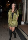 Tulisa Contostavlos leaving Claridge's Hotel after a product launch event in London