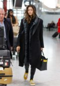 Zendaya Coleman looks tired as she arrives at Heathrow airport to fly out of London