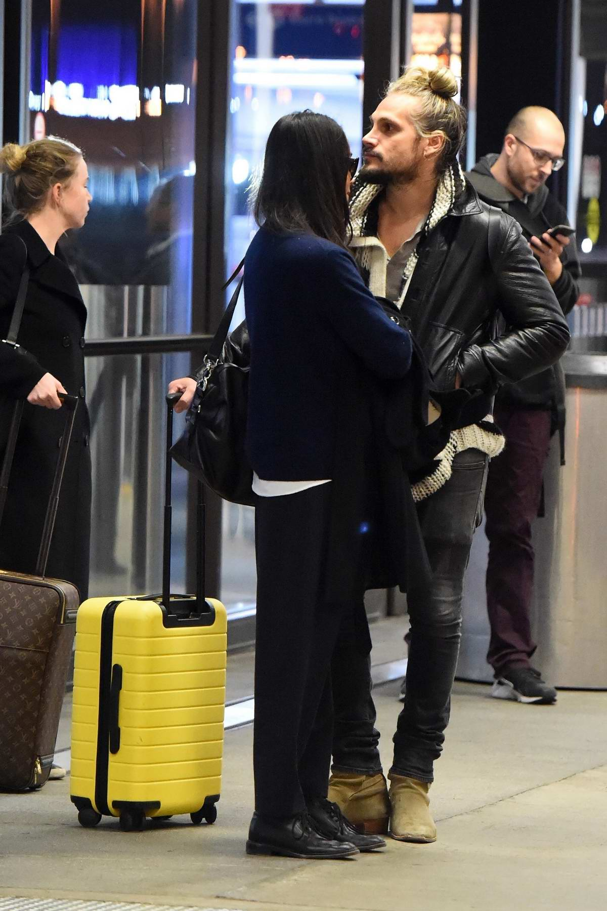 Zoe Saldana And Husband Marco Perego Touch Back Down In Los