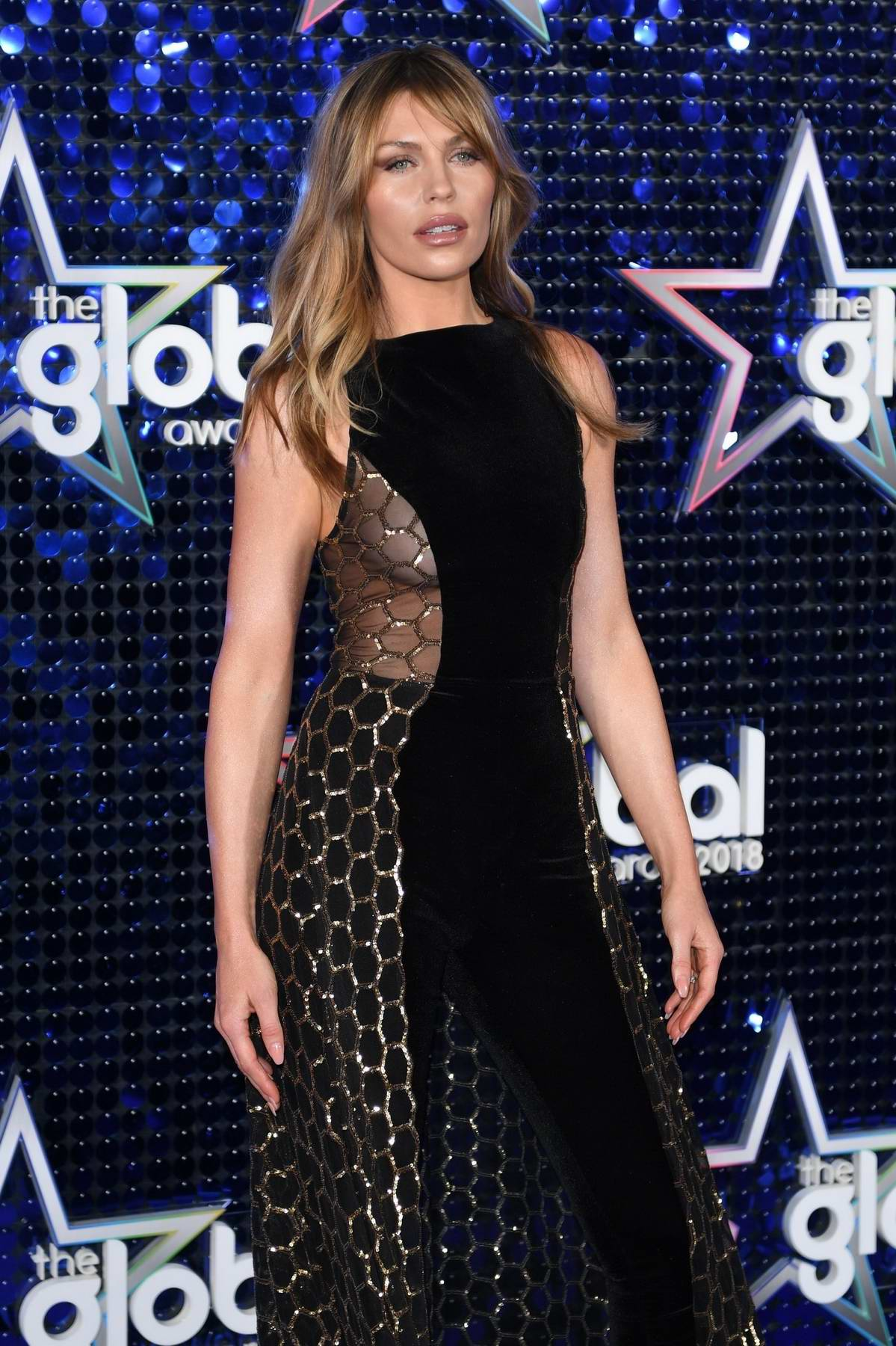 Abbey Clancy attends The Global Awards 2018 in London
