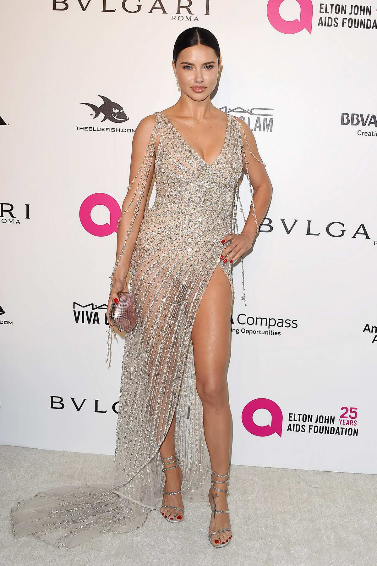Adriana Lima at the 26th Annual Elton John AIDS Foundation Academy Awards Viewing Party in Hollywood, Los Angeles