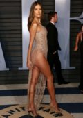 Alessandra Ambrosio attends 2018 Vanity Fair Oscar Party at the Wallis Annenberg Center for the Performing Arts in Beverly Hills, Los Angeles
