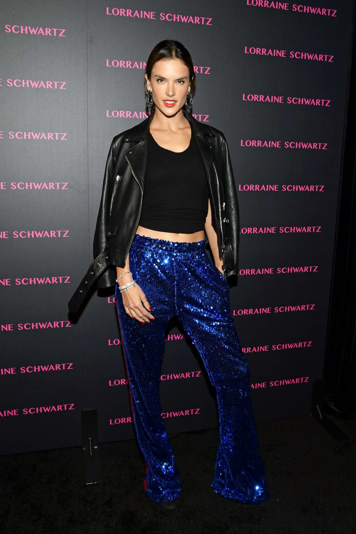 Alessandra Ambrosio Attends Lorraine Schwartz Eye Bangles Collection Launch At Delilah In West Hollywood Los Angeles