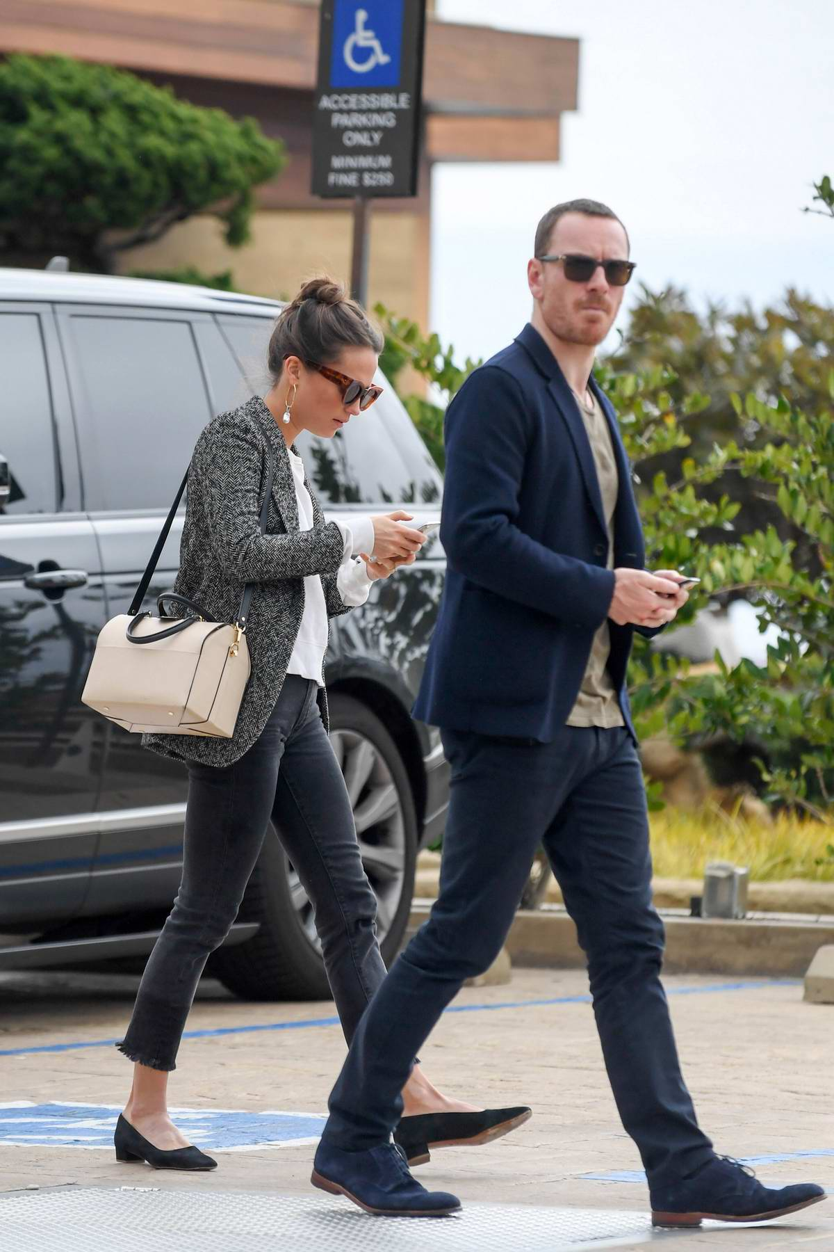 Alicia Vikander and Michael Fassbender head to lunch at the Soho House in Malibu, California