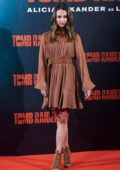 Alicia Vikander attends 'Tomb Raider' Photocall in Madrid, Spain