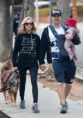 Amanda Seyfried out for a walk with her husband and daughter in Los Angeles