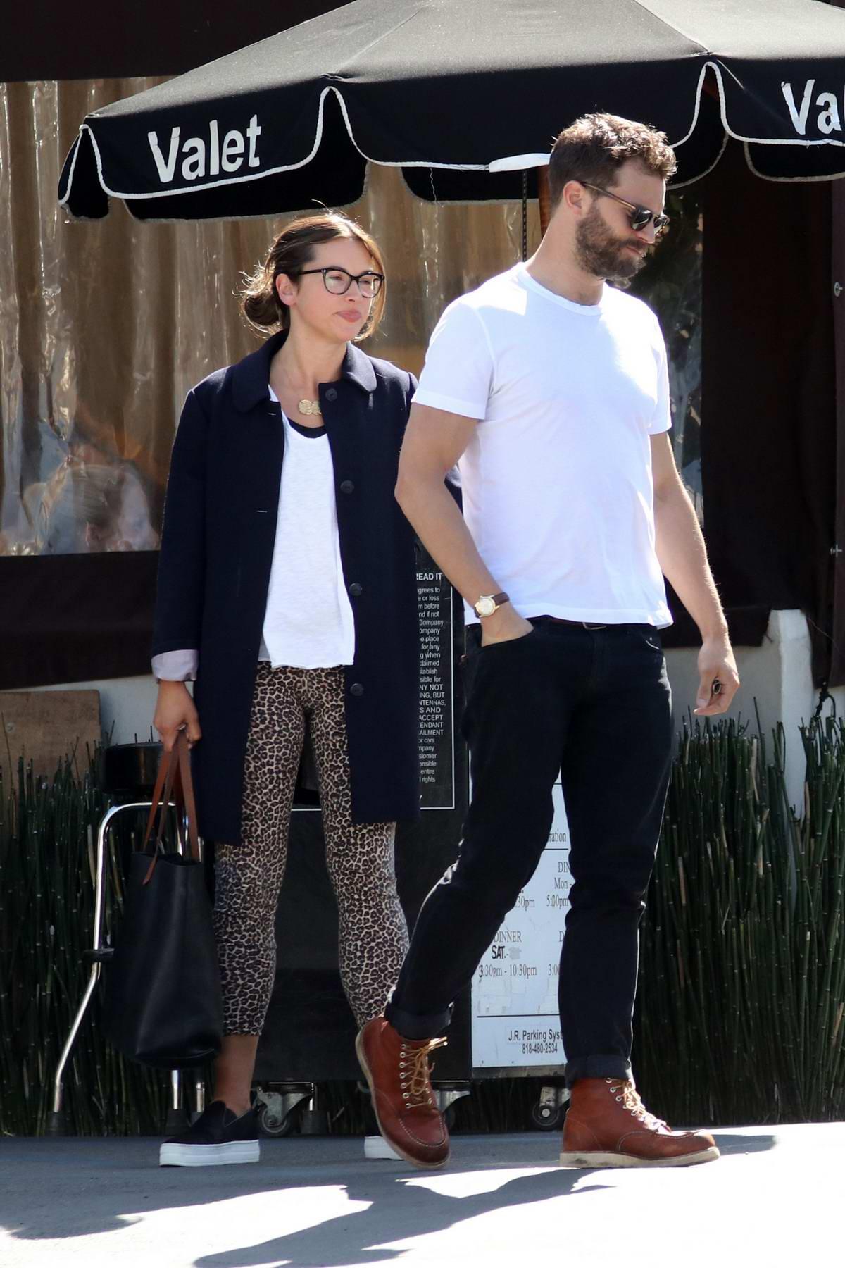 Amelia Warner and Jamie Dornan spotted leaving after lunch at Katsuya restaurant in Los Angeles