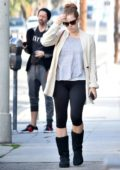 Amy Adams and husband Darren le Gallo enjoy a day out in West Hollywood, Los Angeles