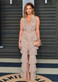 Ashley Tisdale attends 2018 Vanity Fair Oscar Party at the Wallis Annenberg Center for the Performing Arts in Beverly Hills, Los Angeles