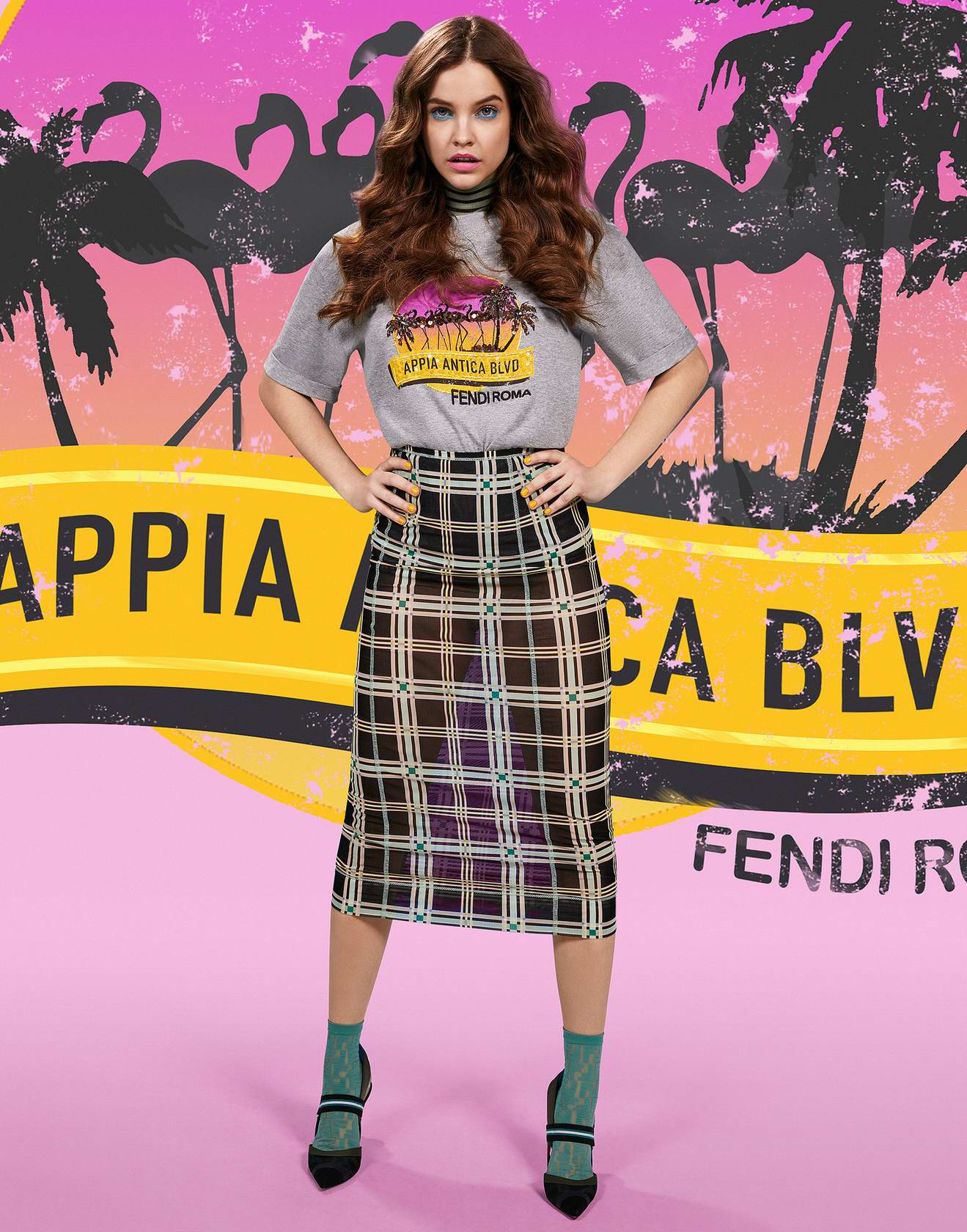 Barbara Palvin features in Fendi Pop Tour Spring 2018 Campaign