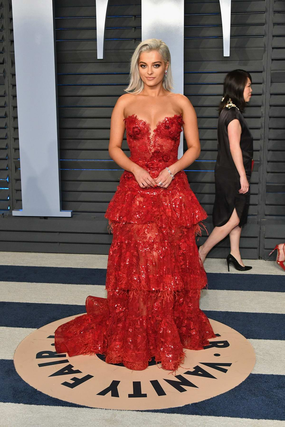 Bebe Rexha attends 2018 Vanity Fair Oscar Party at the Wallis Annenberg Center for the Performing Arts in Beverly Hills, Los Angeles
