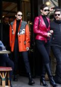 Bella and Gigi Hadid spotted leaving Cafe de Flore in Paris, France