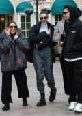 Bella Hadid spends a day with friends at EuroDisney in Marne-la-Vallée, France